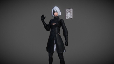nier automata - 2b - 3d model isiizzy isiizzy d7b0a31 stylized model 2b nier automata custom clothes grimoire weiss skin pod hope you like dont know who&rsquo ll next maybe you can give me some ideas - nier automata - 2b - 3d model isiizzy isiizzy d7b0a31