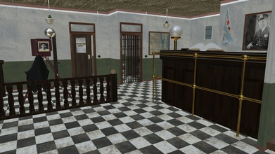 our town police station - 3d model tony92376 tony92376 dfb6c1f our local small-town police station we have dispatch area shared front desk station serves people your town we have few holding cells some rowdy people just need night sleep off these holding cells made up several barred cells bed thin mattress blanket pillow toilet sink corner there two interrogation rooms persons interest questioned one-way windows mirrors police officers detectives other side watch interrogation suspect processing area big enough space take pictures our more serious offenders well utilizing holding space we also have awaiting area locker room you ll find lockers assigned police officers they store their clothing shoes personal hygiene products - our town police station - 3d model tony92376 tony92376 dfb6c1f