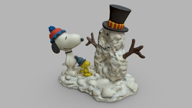 peanuts snoopy woodstock christmas figurine - 3d model mak11 mak11 1acdcb9 peanuts snoopy woodstock & snowman hand painted christmas figurine 235 photos reconstructed agisoft metashape extensive mesh clean-up & sculpting 3dcoat 14m polys model decimated remeshed 40k tris baking metashape & shading substance designer texture touch-ups & roughness creation substance painter usual all maps 8k more renders my artstation page https wwwartstationcom artwork oog13w - peanuts snoopy woodstock christmas figurine - 3d model mak11 mak11 1acdcb9