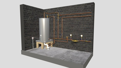 plumbing hot water cylinder engineering - buy royalty free 3d model alexantropov1986 alexantropov1986 0986de2 realistic model domestic hot water cylinder plumbing drainage system installation i&rsquo ve based actual real-life design comes complete hot water cylinder power isolator pressure reducing valve pressure gauges isolating valves non-return valves tempering valve hot water cold water expansion valves copper pipework - plumbing hot water cylinder engineering - buy royalty free 3d model alexantropov1986 alexantropov1986 0986de2