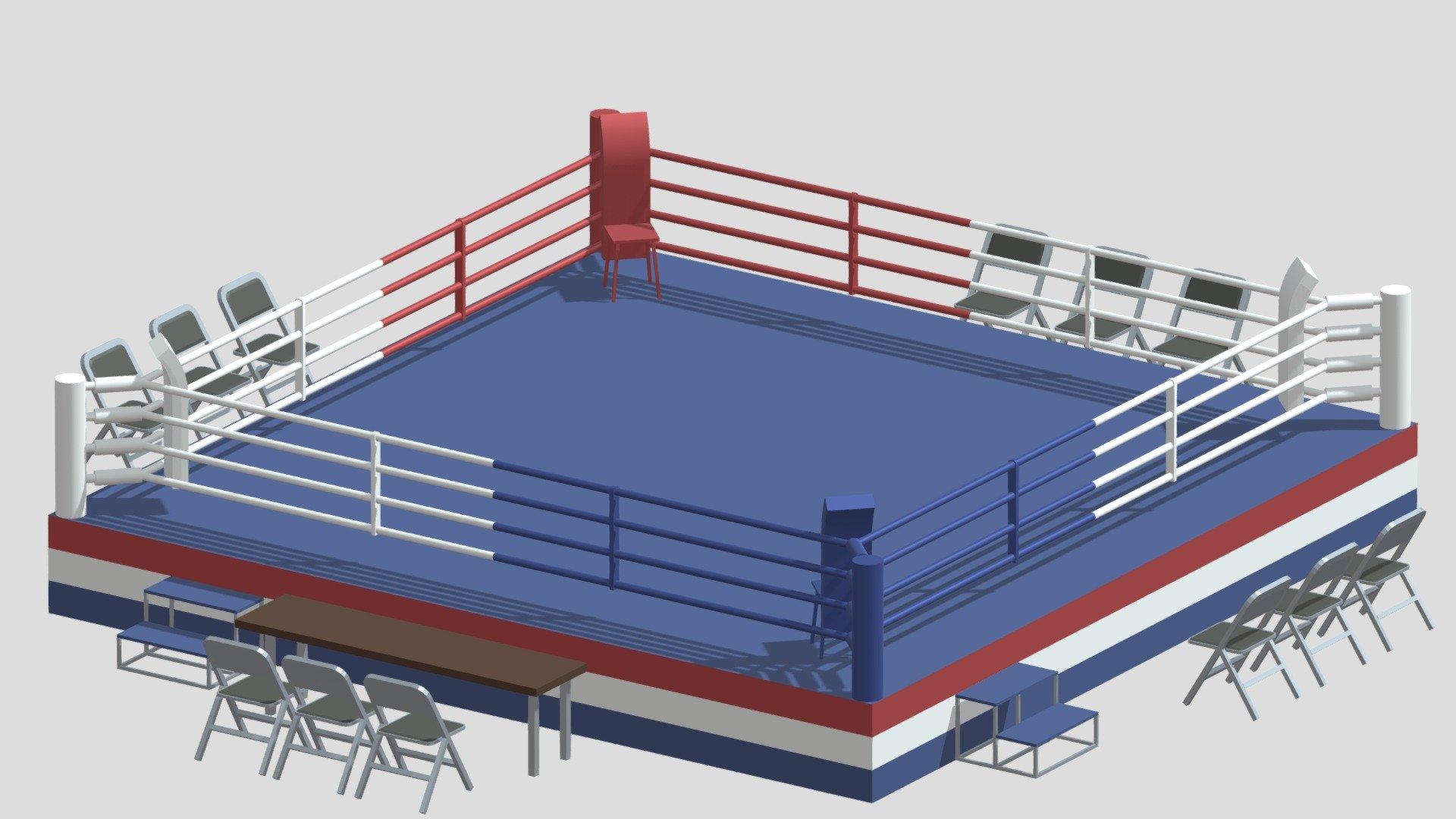 poly cartoon boxing ring