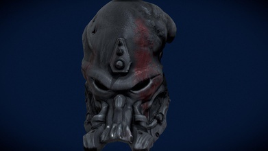 predator mask concrete jungle - 3d model straxarts strax123trt a49e8d0 predator concrete jungle mask model inspirated concrete jungle game itself game one my favourite games maks old rusty damaged because elder scarface has worn out model made sculptris - predator mask concrete jungle - 3d model straxarts strax123trt a49e8d0
