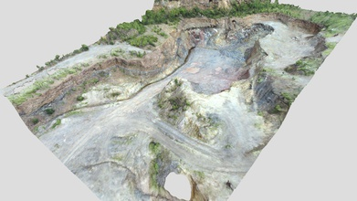 quarry kamsdorf overview 2020 - 3d model jena structures & tectonics wukaimi bb369d3 photogrammetric model created drone images taken eastern section kamsdorf quarry thuringia germany  - quarry kamsdorf overview 2020 - 3d model jena structures & tectonics wukaimi bb369d3