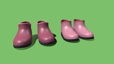 rain shoes 3 - 3d model ag ag deb27c8 3d object rain shoes model left 9 048 polygons one side model right has 1 338 polygons each side - rain shoes 3 - 3d model ag ag deb27c8