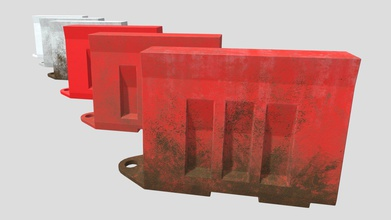 road barrier - 3d model vgtworld vgtworld 434007d textures - 2048x2048 - base color roughness normal map material - 6 variations 2 colors 3 dirt&wear levels 916 triangles single barrier - road barrier - 3d model vgtworld vgtworld 434007d