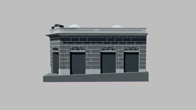 rua paissand 399 jahu sp - 3d model alfippo alfippo cd61d12 o edif cio foi projetado pelo arquiteto milton fraga moreira e foi modelado em materiais cartogr ficos depositados na prefeitura municipal jahu em maio 1928 o edif cio tinha como fun o principal comercial e consistia em 2 espa os retangulares muito grandes que eram utilizados para o armazenamento mercadorias em julho 1928 o pr prio fraga moreira depositou mudan do projeto que previa constru o um andar superior que abrigaria resid ncias coletivas mas n o recebemos nenhuma documenta o referente caracteriza o externa da fachada atualmente o edif cio mant m seu uso comercial e residencial mas perdeu completamente sua caracteriza o material que foi acentuada pelo uso cinzas estuque que delinearam o desenvolvimento proporcional da eleva o do edif cio e simplificaram leitura do racioc nio compositivo do autor - rua paissand 399 jahu sp - 3d model alfippo alfippo cd61d12
