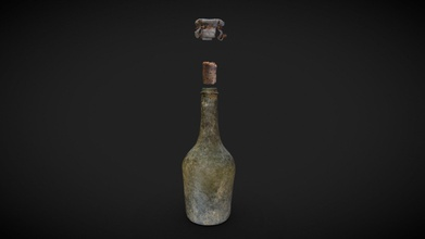 saint alo ran bottle dhe170a dhe170b dhe170d - 3d model western australian museum wamuseum fc593f0 29 march 1772 gros ventre commanded louis saint alo ran anchored off dirk hartog island next day party claimed possession land part annexation ceremony document put bottle buried foot small tree 1998 after french coin lead seal were found museum searched annexation document they found this - saint alo ran bottle dhe170a dhe170b dhe170d - 3d model western australian museum wamuseum fc593f0