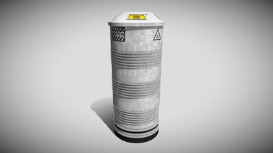 sci-fi containment flask - buy royalty free 3d model simon t griffiths rubberman ace90c4 sci-fi containment flask model low-poly hand-painted using substance painter game-ready ar vr - pbr unity unreal engine 4 android google friendly textures 2048 x 2048 dilation + grey background 8-pixel padding opengl if you require further assistance model then please do not hesitate contact me if you buy model does says tin please leave review if not please contact me make sure you do https stgbooksblogspotcom - sci-fi containment flask - buy royalty free 3d model simon t griffiths rubberman ace90c4