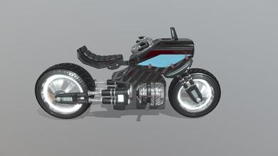 sci-fi mag-lev motorbike - 3d model damian stone design damianstonedesign b72701d luxury long range mag-lev wheeled sci-fi motorbike - sci-fi mag-lev motorbike - 3d model damian stone design damianstonedesign b72701d