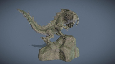 sea monster statue - 3d model mike hbrt mike hbrt 86e729f sea monster made zbrush textured quixel mixer - sea monster statue - 3d model mike hbrt mike hbrt 86e729f