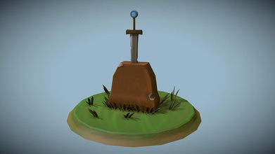 sword stone - download free 3d model mre sauce mre sauce 8917b28 practice uv mapping all textures here were made me photoshop wanted make cartoonish sword had chips blade made blade seperate so people would able use sword itself animation if wanted - sword stone - download free 3d model mre sauce mre sauce 8917b28