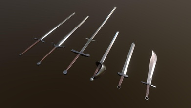 swords - buy royalty free 3d model nellyb nellyb efe632f pack comes 6 swords each 2048x2048 pbr textures albedo metal gloss ao normal  zweihander - 484 tris claymore - 918 tris longsword - 344 tris broadsword - 870 tris shortsword - 206 tris falchion - 206 tris unity 3d pbr textures inlcuded - swords - buy royalty free 3d model nellyb nellyb efe632f