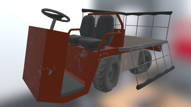 trolly - 3d model rowan kurkio 7e92b46 simple lugage prop my student game - trolly - 3d model rowan kurkio 7e92b46