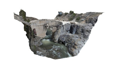 ute ulay dam - download free 3d model blm national operations center geospatial imaging oc534 d59d25a ute ulay mining complex located along alpine loop scenic byway just south lake city colorado ute ulay mining claims were discovered 1871 were one biggest producers gold silver san juan mountains bureau land management gunnison field office has partnered hinsdale county promote heritage tourism has stabilized preserved several structures within mining complex ute ulay listed national register historic places 2017 ute ulay dam constructed 1926 provide hydropower mill processed gold silver ores poured concrete dam measures 160 feet across reinforced woven rebar water forced into hydropower plant flume originating dam hydropower plant produced power using three turbine water wheels power plant used until 1951 flume collapsed - ute ulay dam - download free 3d model blm national operations center geospatial imaging oc534 d59d25a