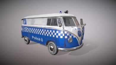 volkswagen micro bus police kombi vehicle - 3d model winterborn winterborn d09572c work fiction i&rsquo m pretty sure victoria police never had kombi part their patrol vehicles but very nice texture vintage vw model victoria police colors also added vintage police radios dashboard few random police stuff trunk have made other two different paintings vehicle upload into my artstation post hope you enjoy - volkswagen micro bus police kombi vehicle - 3d model winterborn winterborn d09572c