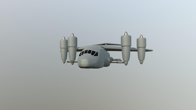 vtol cargo plane - 3d model toothedjaw toothedjaw 945c13c science fiction aircraft based inspired c-17 c-130 do-31 vtol capable cargo jet which runs throught three stages takeoff achieve flight - vtol cargo plane - 3d model toothedjaw toothedjaw 945c13c