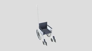 wheelchair - 3d model roselle carmen cereszal eba1d5b standard wheelchair found any hospital took reference few hospitals - wheelchair - 3d model roselle carmen cereszal eba1d5b