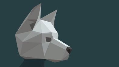 wolf head mask simplified - buy royalty free 3d model borisklimov borisklimov 7236d56 designed low poly papercraft - wolf head mask simplified - buy royalty free 3d model borisklimov borisklimov 7236d56