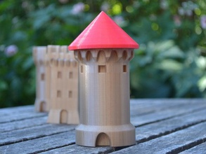 tower nr 3 decor castle castle tower dungeon tower medieval medieval tower round tower safe box tower safe tower roof