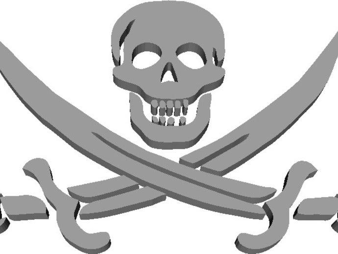 skull swords jolly roger