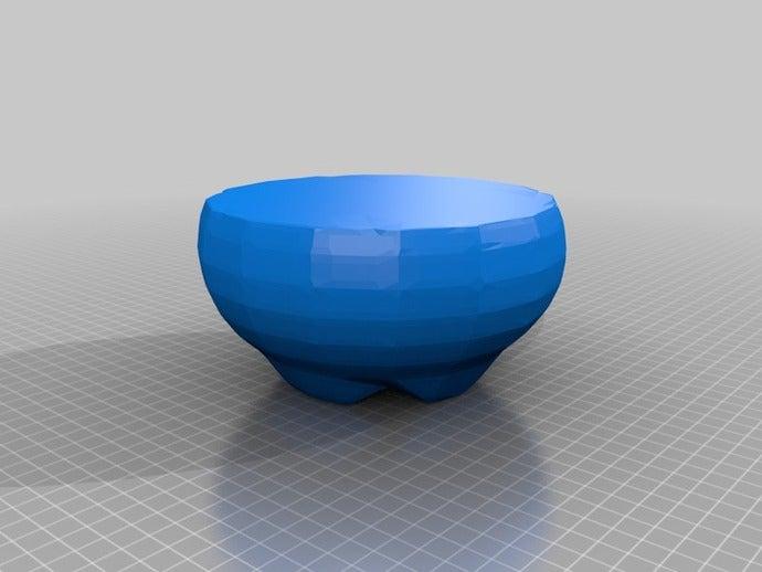 faceted bowl sculptures