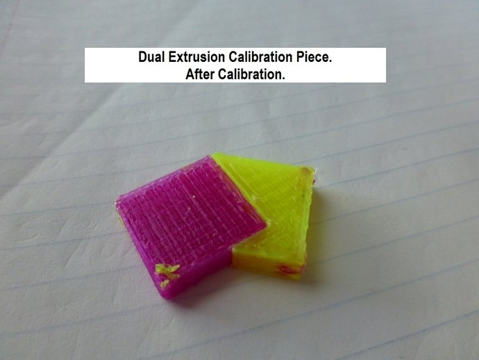 dual extrusion calibratio