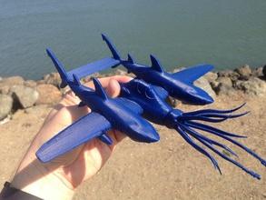 nx-55 nightsquid night fighter vehicles airplane fantasy mutant scifi shark