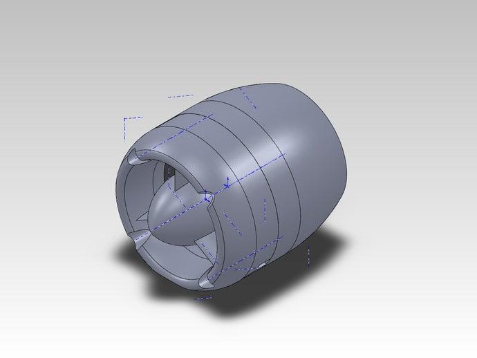 40mm box fan housing 3d p