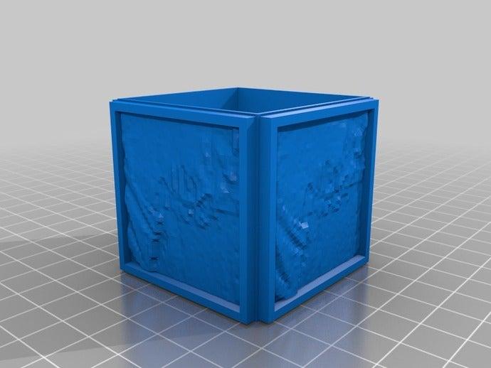 ai bust custom cube litho