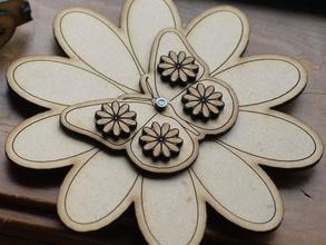 anikas età di 6 anni di filatura farfalla fiore meccanica giocattoli