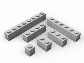 standard giocattolo mattoni 1x1 1x10 universale giocattolo mattoni utb costruzione giocattoli