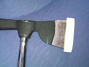 l'ascia di protezione mano strumenti