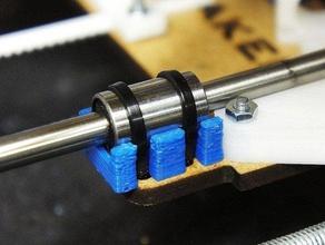 lm6uu bearing holder upgrade other 3d axis emaker huxley lasercut linear linear bearing upgrade part mendel reprap robot useful zip-tie zip-ties zip tie zip ties
