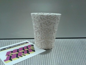 weekly cup 49 let snow let snow let snow kitchen dining 3d art household ornament pla single walled supportless ultimaker useful vase