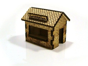 lasercut- christmas market stalls buildings structures 3d axis cnc co2 h0 house jewelry laser cutter model plywood railway tool toy