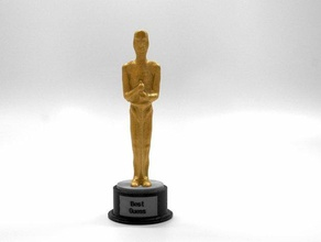 customizable movie award sculptures academy academy award award base customizer decoration dualstrusion dual extruder gift honor oscars statue trophy trophy base two extruder