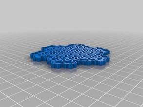 gosper curve coaster household supplies drink fractal math openscad