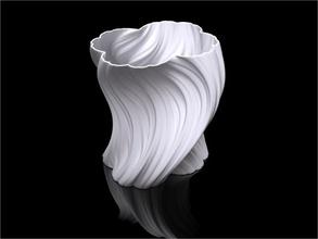 julia vase 004 bloom decor custom julia fractal voxel