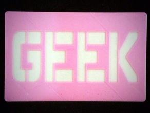 geek card - mathgrrl edition coins & badges geek geek card