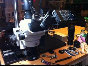 olympus microscope sz61tr eyepiece adapter iphone-5 camera