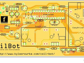 coil bot robotics arduino coil winder electromagnet electromagnet winder kyle orourke relay spool winder stepper motor uno
