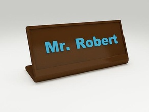 desk name plate 2 office customiz customizer