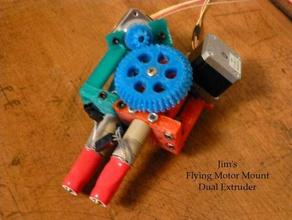 jims flying motor mount dual extruder 3d printer extruders mendel openscad printrbot prusa upgrade