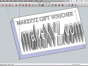 makexyz 3d printing gift voucher other