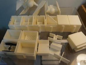xwing en miniatura, juego de nave cajas de x-wing juegos luchador el empate tie avanzado caza tie x-wing en miniatura juego