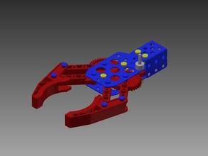 vex claw robotics 3d printable assemble build clawbot claw bot claw bot kit claw kit cool gears linkage links prototype vex robotics