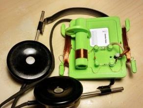 retro mediumwave detector-radio audio amateur radio diy radio ham radio marconi simple radio