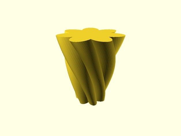 flower petal vase pen flo