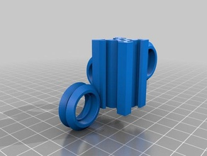 aluminum snowflake v-slot v-rail design 20mm 20mm 3d printer parts build connections experimental extrusion linear makerslide motion openbuilds openrail plates plugs t-nut nut t-slot tnut tslot vslot