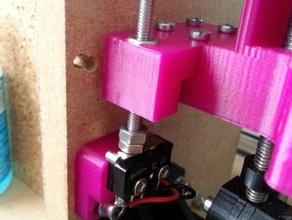 improved z-min enstop mount adjustment mendel90 improved x-ends 3d printer parts adjustable endstop bar clamp